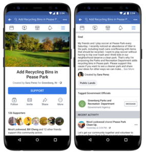 The Social Recap; week 3 - Facebook Community Actions